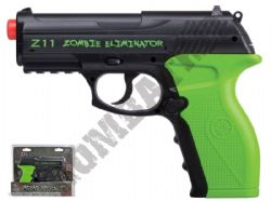 Z11 Eliminator CO2 Powered Airsoft BB Gun Black and Green